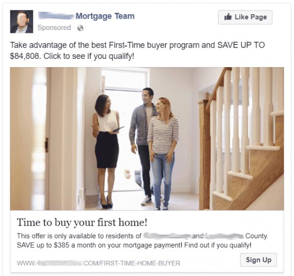 Sample Facebook Ads